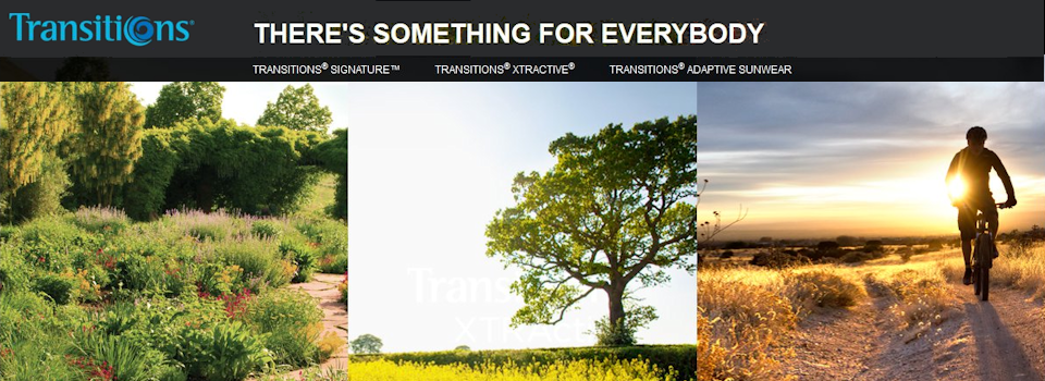 Transitions lenses - Something for Everyone picture of landscapes and different levels of sunlight
